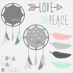 free dream catcher & feather clipart