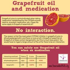 Doctors warn against consuming Grapefruit juice if you take certain types of medication, such as statins, which are metabolized by the enzyme. Grapefruit juice inhibits this enzyme so the liver Essential Oils Uses Chart, Essential Oil Safety, Doterra Essential Oils, Young Living Essential Oils, Coffee Essential Oil, Neroli Essential Oil, Grapefruit Essential Oil, Grapefruit Plant, Grapefruit Juice