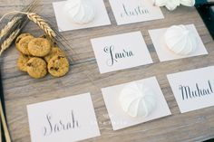 Custom Modern Calligraphy Placecards