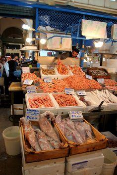 Marché de poissons à Athènes. Fish market, Athenes