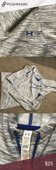 Under Armor Hoodie Size is medium I think it could fit a small too. Perfect condition so soft and warm! Really cool pattern! Under Armour Jackets & Coats