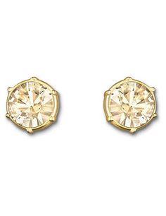 936673335 SWAROVSKI TYPICAL PIERCED EARRINGS 5084709 | Duty Free Crystal Golden  Earrings, Swarovski Jewelry, Crystal