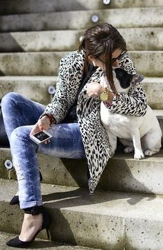 Coat and dog....Le Jean by Krystal Schlegel