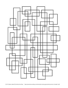 Geometric Rectangles Coloring Page - simple