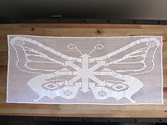 Ravelry: Chaos Butterfly Filet Runner pattern by Grid Mammal Crafts