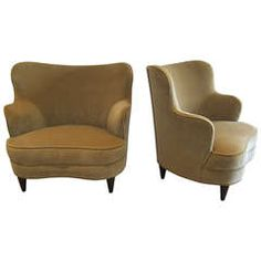 Elegant Pair of Boudoir Chairs.