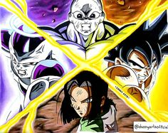 "171 Me gusta, 1 comentarios - Daniel Ramirez (@dannyartsofficial) en Instagram: ""Dibujo terminado!! 12 horas de trabajo. Materiales utilizados: Copic, Touch, Bic Marking,…"" Dragon Ball Z, Dbz, Photo Dragon, Copic, Grumpy Cat Quotes, Z Wallpaper, Collage Drawing, Goku Vs, Spray Paint Art"