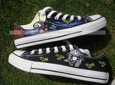 Low-top Painted Canvas Shoes Nightmare before Christmas,Low-top Painted Canvas Shoes