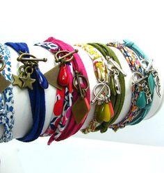 Mon bijou facile: tutoriel bracelet ajustable My easy jewel: adjustable bracelet tutorial Bracelets Diy, Fabric Bracelets, Fabric Jewelry, Friendship Bracelets, Women's Jewelry, Jewelry Ideas, Jewellery, Armband Tutorial, Bracelet Tutorial