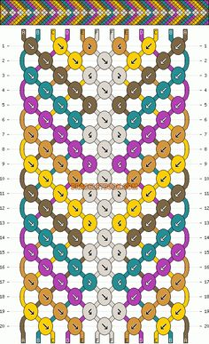 Normal Friendship Bracelet Pattern #2422 - BraceletBook.com