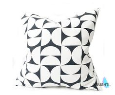 Monochrome Pillow Pillow Cover Black and White Modern