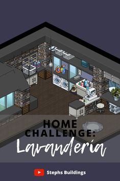 Habbo Hotel, Alphabet Letters Design, Minecraft Room, Isometric Art, Lettering Design, Animal Crossing, Laundry Room, Interior And Exterior, Beautiful Places