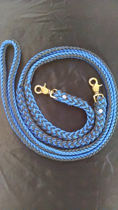 Horse Tack: Adjustable 9ft Paracord Barrel Reins, 8 strand round braid 550 parcord with trigger snaps