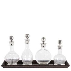 DECANTER ARMAGNAC SET OF 4 - Bar Cabinets & Barware - Cabinets & Chests