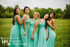 Мятные платья для подружек.... ммммм... свежо