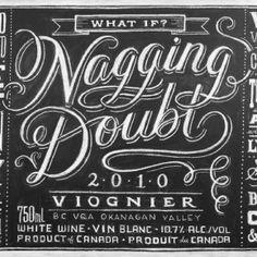 Typografie mit Kreide