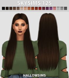 Traditional long hair for The Sims 4 - Lange Haare Ideen Hair The Sims 4, The Sims 4 Pc, Sims Four, Sims 4 Cas, Die Sims, Sims Cc, Beige Blond, Hair Cute, The Sims 4 Cabelos