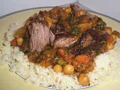 Moroccan Pot Roast with Couscous, perfect for a winter dinner!