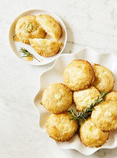 Bite-Sized Baked Brie With Honey & Rosemary