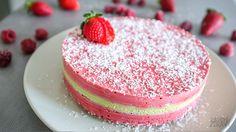 Jahodovo-limetkový raw dort