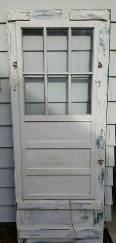 Amazing Vintage Old Wood Door And Screen Door, Exterior Door, Building Supply,  Architectural Salvaged