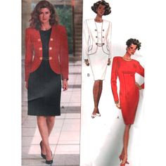 Butterick Sewing Pattern 5171 Misses' Petite Jacket and Dress by Richard Warren Size: 6-8-10 or 12-14-16 Uncut