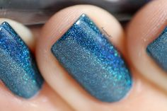 Peacock Parade is a deep blue toned teal holographic. Swatch by @angepinselt on Instagram.