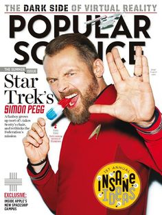 """Pegg News on Twitter: """"July/August issue of #PopularScience featuring Simon,"""