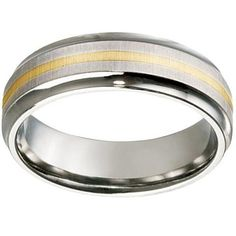 Titanium with Yellow Gold Inlay Wedding Ring Wedding Rings, Engagement Rings, Yellow, Gold, Jewelry, Enagement Rings, Jewlery, Jewerly, Schmuck