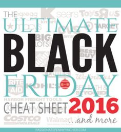 black friday 2016 cheat sheet