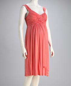 Take a look at this Kische Coral Maternity Wrap Dress - Women by Kische on today! Cheap Maternity Clothes, That Look, Take That, Wrap Dress, Daddy, Coral, Dresses, Women, Fashion