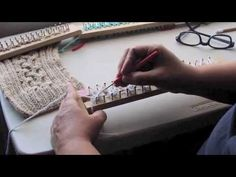 Bufanda con trenza en telar - Como empezar - Completo - YouTube