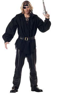 Amazon.com: Adult Men's Black Pirate Costume Shirt (Size: Standard 44): Clothinghttp://www.amazon.com/Adult-Black-Pirate-Costume-Shirt/dp/B000RKT95A