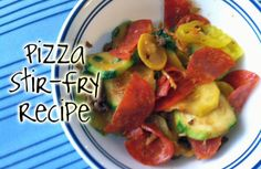 This Pizza Stir Fry is an easy and delicious alternative to Pizza. It has all the same flavors without the processed junk!
