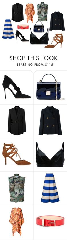 """""""fashion deal"""" by kristen-stewart-2989 on Polyvore featuring Sergio Rossi, Furla, Versace, Sofie D'hoore, Aquazzura, Manning Cartell, AS65, Delpozo, Boutique Moschino and Paul Smith"""