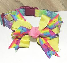 Rainbow Easter Egg Collar with Matching Bow for Dogs and Cats in Buckle or Martingale Style /Easter Leash Upgrade/ Metal Buckle Upgrade by KVSPetAccessories on Etsy Bee Dog, Metal Engraving, Cat Accessories, All Flowers, Cat Collars, Metal Buckles, Ribbon Bows, All Dogs, Easter Eggs