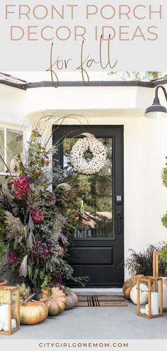 fall front porch decor To help you update your home for fall, we gathered together some of our favorite looks to inspire your own seasonal front porch decor. Fall Home Decor, Autumn Home, Diy Home Decor, Holiday Decor, Farmhouse Design, Rustic Farmhouse, Farmhouse Front, Diy Projects On A Budget, Porch Decorating