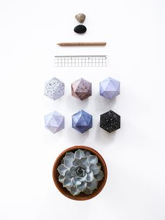 SNUG.DECO BALLS stone // http://snugonline.bigcartel.com/product/snug-deco-balls-stone-diy-set-of-6-pendants