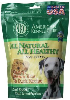 American Kennel Club All Natural All Healthy Dog Treat in Barley, Brown Rice and Duck Recipe *** Want additional info? Click on the image. (This is an affiliate link and I receive a commission for the sales)