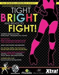 cupcakecourtney:    If you are in the TO area you should come out and help support my fellow derby girls! March 24!