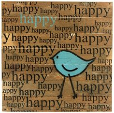 - Show your happy spirit every day with this charming and rustic wall art - Wood sign constructed of reclaimed, repurposed wood to tell your story or message with the beauty of vintage materials. Rustic Wall Art, Wood Wall Decor, Wood Wall Art, Happy Happy Happy, Are You Happy, Repurposed Wood, Decorative Signs, Wood Slats, Discount Furniture