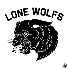 Lone wolfs illustration. Wolf. Black and white. Tattoo style.
