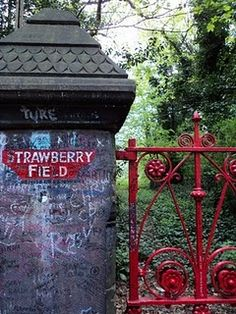 Strawberry Field in Liverpool, England. John Lennon's inspiration for Strawberry Fields Forever by The Beatles. Places Around The World, The Places Youll Go, Places To See, Around The Worlds, Liverpool Home, Liverpool England, Strawberry Fields Forever, Across The Universe, England And Scotland