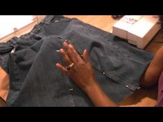 Do you have a pair of old jeans that you don't like any more or are just outdated?  Convert them!  With a few simple steps, your old jeans, will become a new stylish skirt.  Watch and see just how simple and easy it it to do.