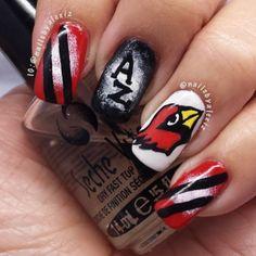Arizona Cardinals By Nailsbyalexiz Nail Nails Nailart Football Designs