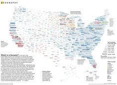 Most common surnames by region in the U.S.