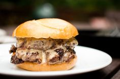 """""""Smashed Burgers"""" - cook on griddle or skillet (the best part is the sliced onion inside)"""