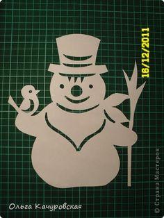 Интерьер Новый год Вырезание Снеговиков  вагон и маленькая тележка   Бумага фото 6