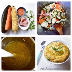 Veggie, red lentils & Chicken curry purée [8m+] I'd serve this. bomb of nutrients in one meal