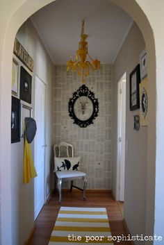 the poor sophisticate: Recycled Hall Reveal